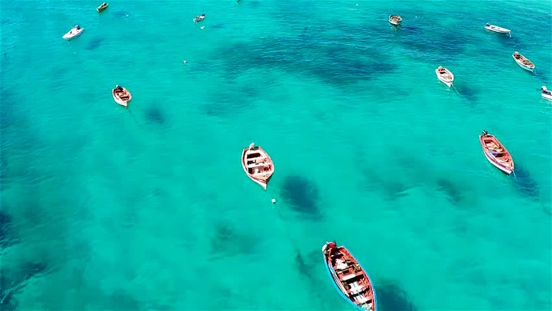Fishermen at sea, Cape Verde