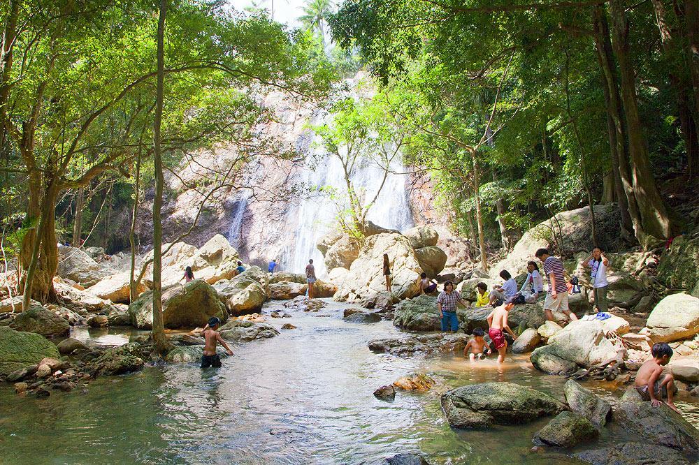 waterfalls in Koh Samui