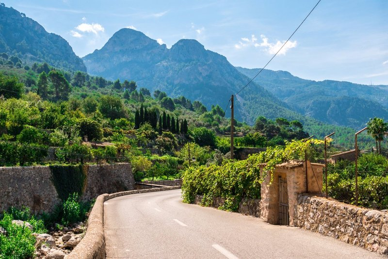 Narrow winding roads around Sóller and Port de Sóller - perfect for cycling