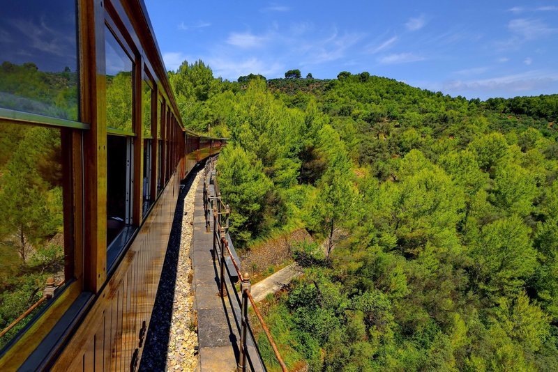 Historic railway journey from Sóller to Palma