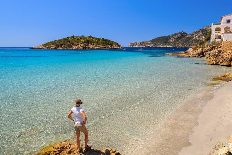 Spell-binding sandy beach of Sant Elm