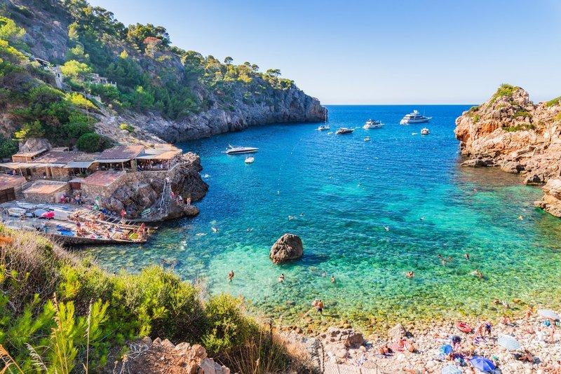 View of Cala Deia, Majorca