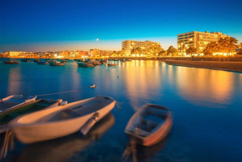 San Antonio, Ibiza at night