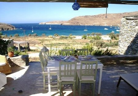 Villa in Serifos, Greece: balcony and view to aegean