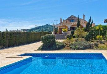 Villa in La Manga Club & Resort, Spain: View from pool towards villa.