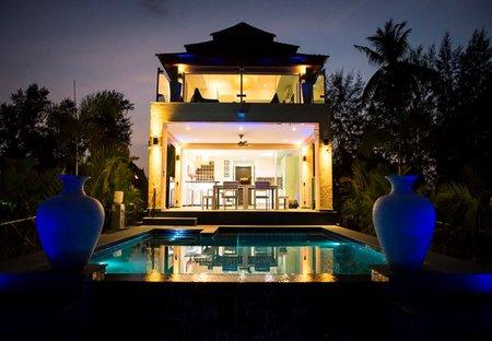 Villa in Koh Chang, Thailand: Palm Island Villa at dusk.