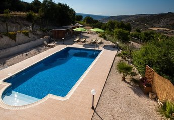 Villa in Polemi, Cyprus: Pool view from upstairs.