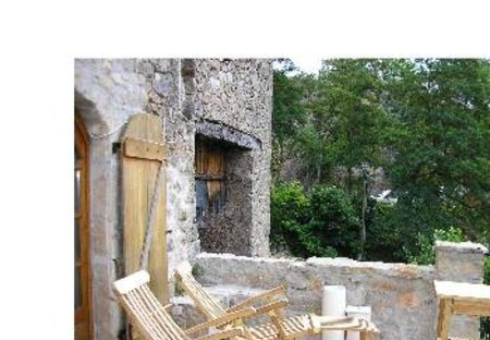 Gite in Nant, the South of France: The terrace overlooking valley