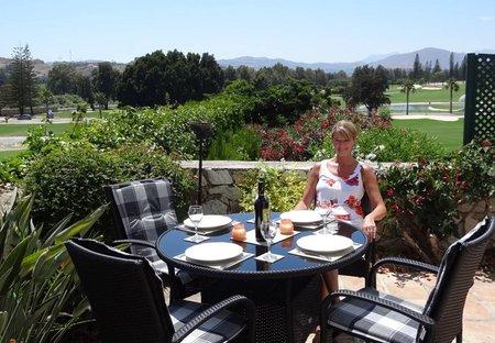 Villa in Mijas Golf, Spain: Dining on the terrace