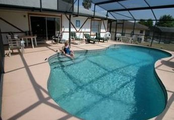 Villa in Indian Ridge, Florida: Large SW Facing Pool with area for sitting out
