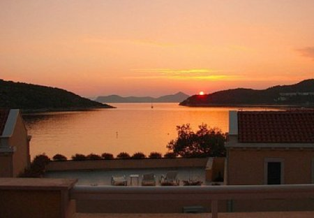 Villa in Slano, Croatia: Villa Clio - Balcony view at sunset