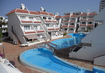 Apartment in Playa de las Américas, Tenerife: View from the balcony