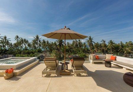 Villa in Ban Tai, Koh Samui: Roof top lounge at Pina Colada Villa, a 5 bedroom private villa locat..