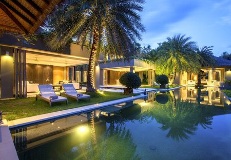 Villa in Chaweng, Koh Samui: Swimming pool at Villa 3 of Sangsuri private resort, North Chaweng, K..