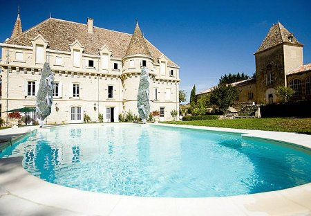 Chateau in Castelsagrat, the South of France