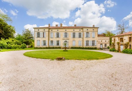 Chateau in Castelnau-Picampeau, the South of France