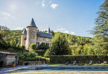Chateau in Chamborigaud, the South of France