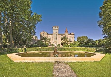 Chateau in Montagnac, the South of France: Chateau St Martin de la Guarrigue by Ciel Rouge Creatio..