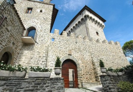 Chateau in Gubbio, Italy