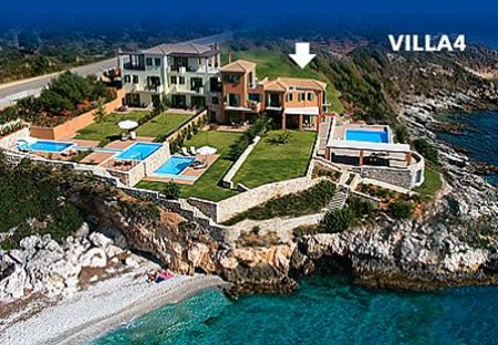 Villa in Skala, Kefalonia: Villa 4 consists of House and Waterfront Suite