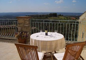 Village House in Baudinard-sur-Verdon, the South of France: Large terrace with spectacular views