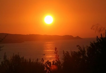 Apartment in Patrimonio, France: St Florent sunset from the terrasse