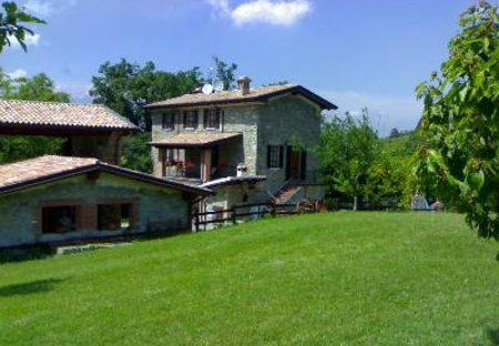 Country House in Corti, Italy: Back garden