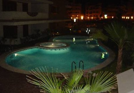 Apartment in Jardín del Mar Playa, Spain: Pool area by night: La Entrada Ocean Front Resort