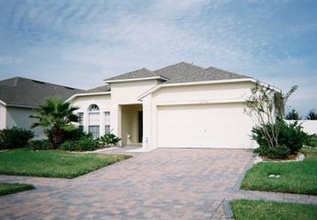 Villa in Cumbrian Lakes, Florida: The front of the house