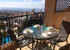 Breakfast on the veranda with 180 degree views to the Mediterranean
