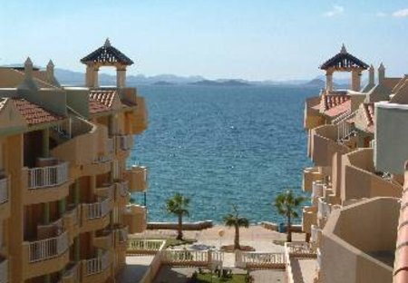 Penthouse Apartment in La Manga del Mar Menor, Spain: View from apartment