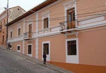 Duplex Apartment in Ecuador, Colonial Quito: facade of complex