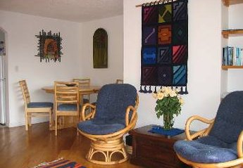 Apartment in Quito, Ecuador: Quito Apartment - living room and dining space