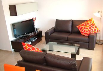 Apartment in La Torre Golf Resort, Spain: A Well Equiped Modern Lounge Area with UK TV Channels & ..