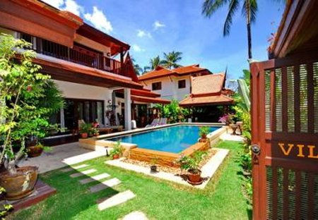 Villa in Lamai, Koh Samui: Villa and gardens