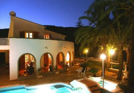 Villa in Oliva, Spain: Main Terrace by Night