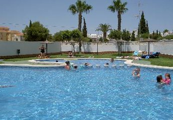 Apartment in Spain, Las Piscinas: 1 of 2 lovely pools for your use.