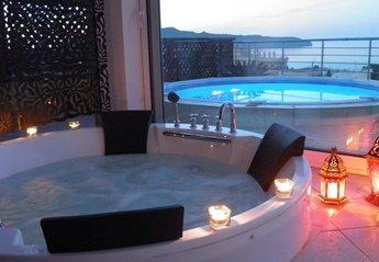 Villa in Agia Marina, Crete: Blue Villa I private internal Jacouzzi