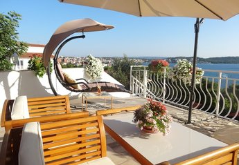 Apartment in Trogir, Croatia: Apartment 1, private terrace with barbeque area