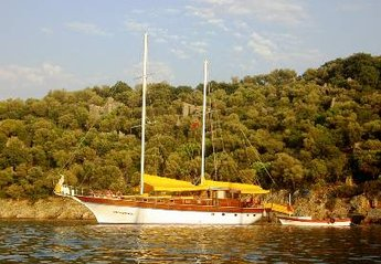 Boat in Marmaris, Turkey: One of the many beautiful bays