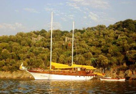Boat in Marmaris, Turkey: One of the many beautiful bays