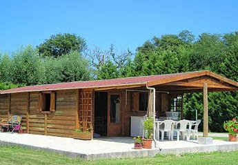 Cabin in Clermont, France: chalet with terrace