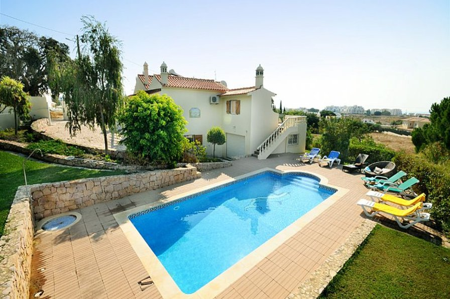 Villa In Portugal, Olhos De Água: Villa Torre With Large Private Pool And  Garden