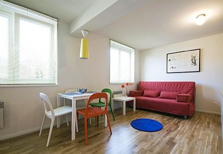 Apartment in Ljubljana Center, Slovenia: Dining/Living Room [photo by www.dusanzidar.com]