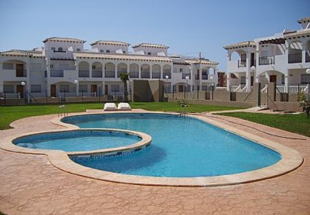 Apartment in Los Balcones, Spain: view of pool