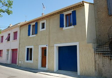 Village House in Capestang, the South of France: Front View of our house