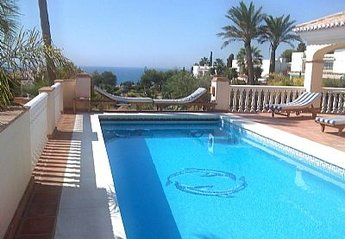 Villa in Torrenueva, Spain: Pool and Sea view from the Villas Terrace