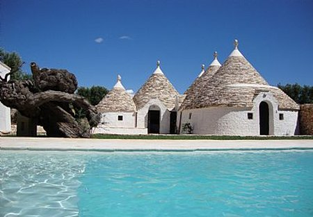 Country House in L'Assunta, Italy: A cluster of 6 ancient trulli with pool