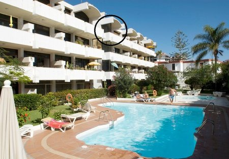 Apartment in Playa del Inglés, Gran Canaria: Our Apartment circled