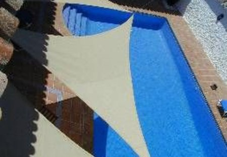 Village House in Cozvijar, Spain: Patio, sun, shade and the pool